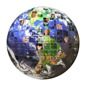 Earth global network of people
