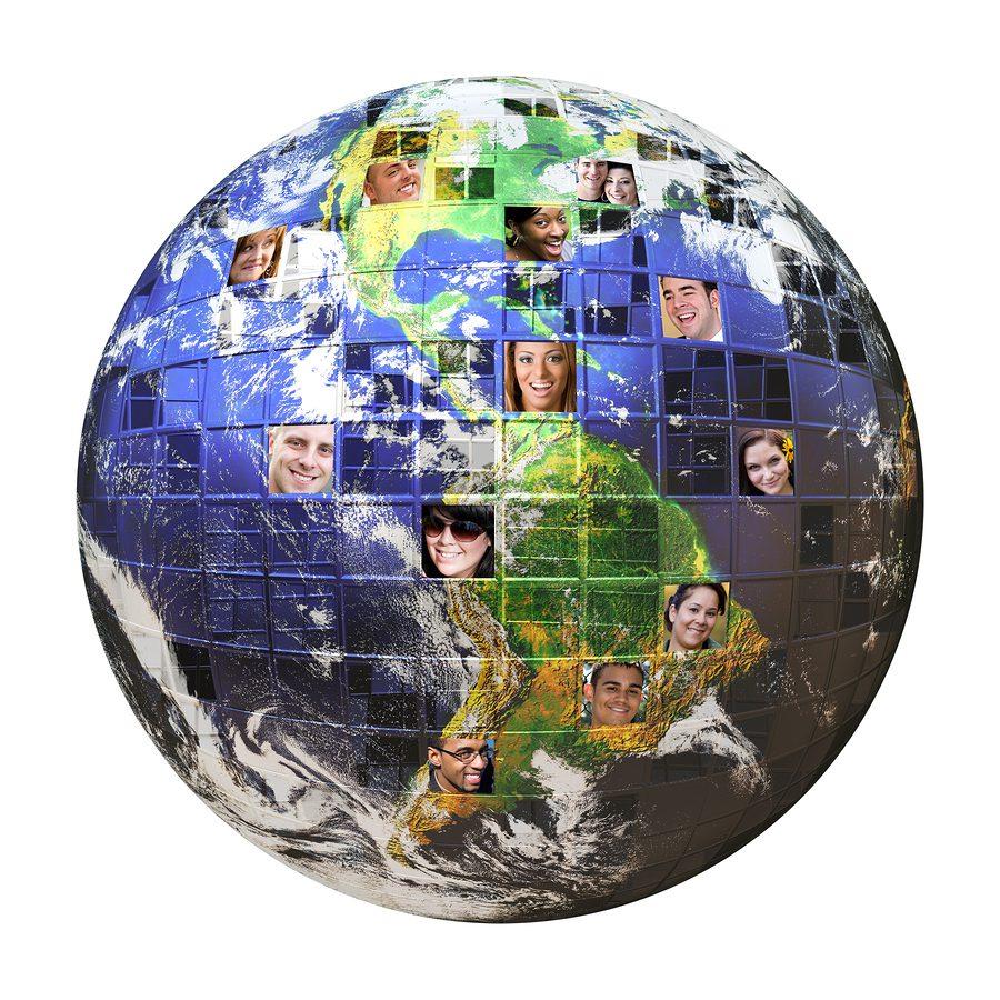 Earth global network of people